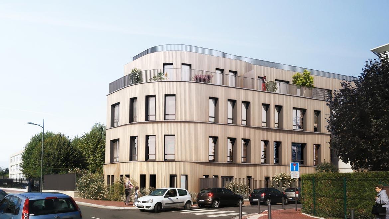 À Enghien les Bains, Ossabois réalise 17 logements en structure et bardage bois