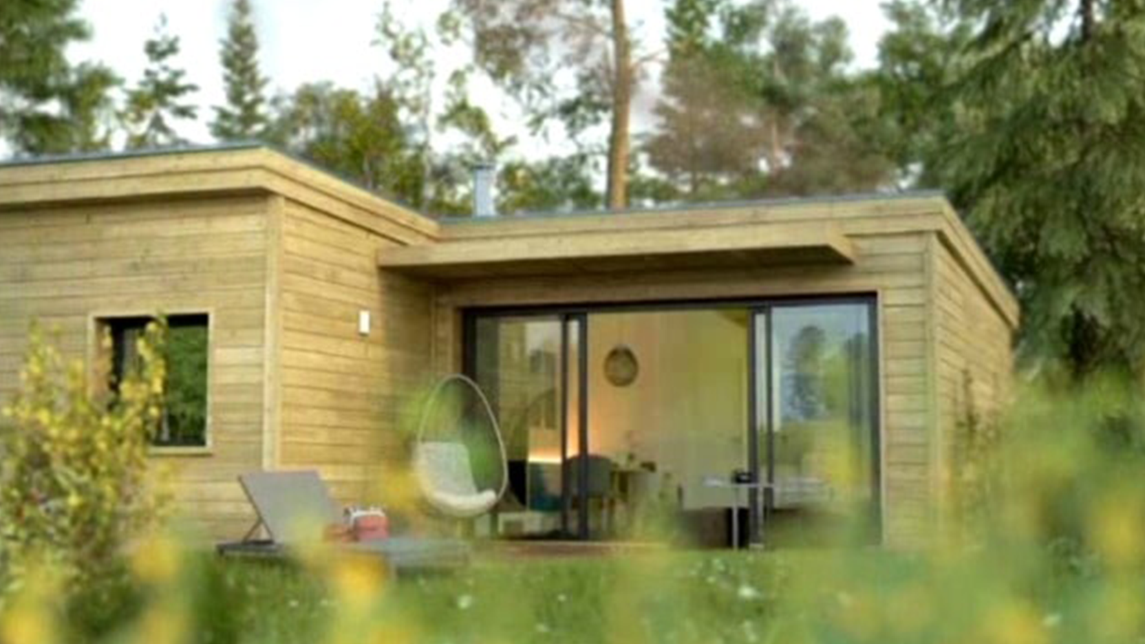 Levage des cottages du Center Parcs dans la Vienne