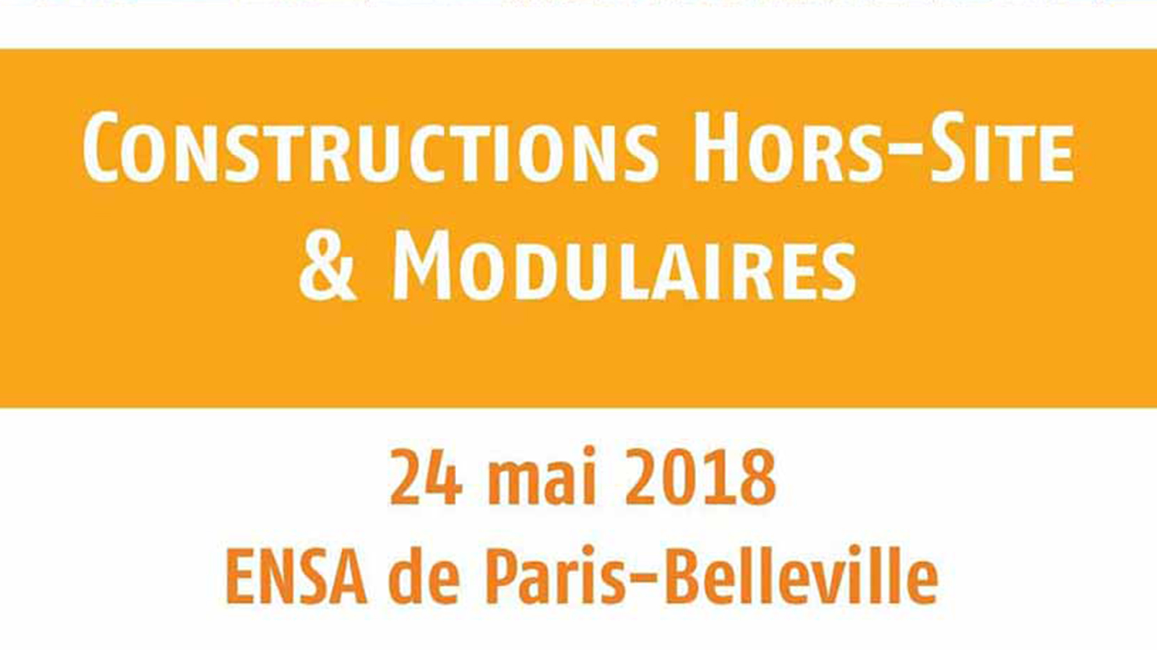 Colloque Hors-Site à l'ENSA de Paris – Belleville