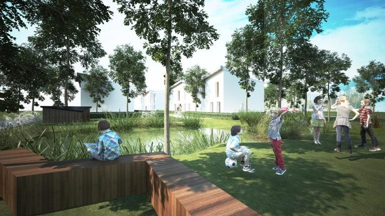 Maisons individuelles en ossature bois pour Toit et Joie au Perray-en-Yvelines