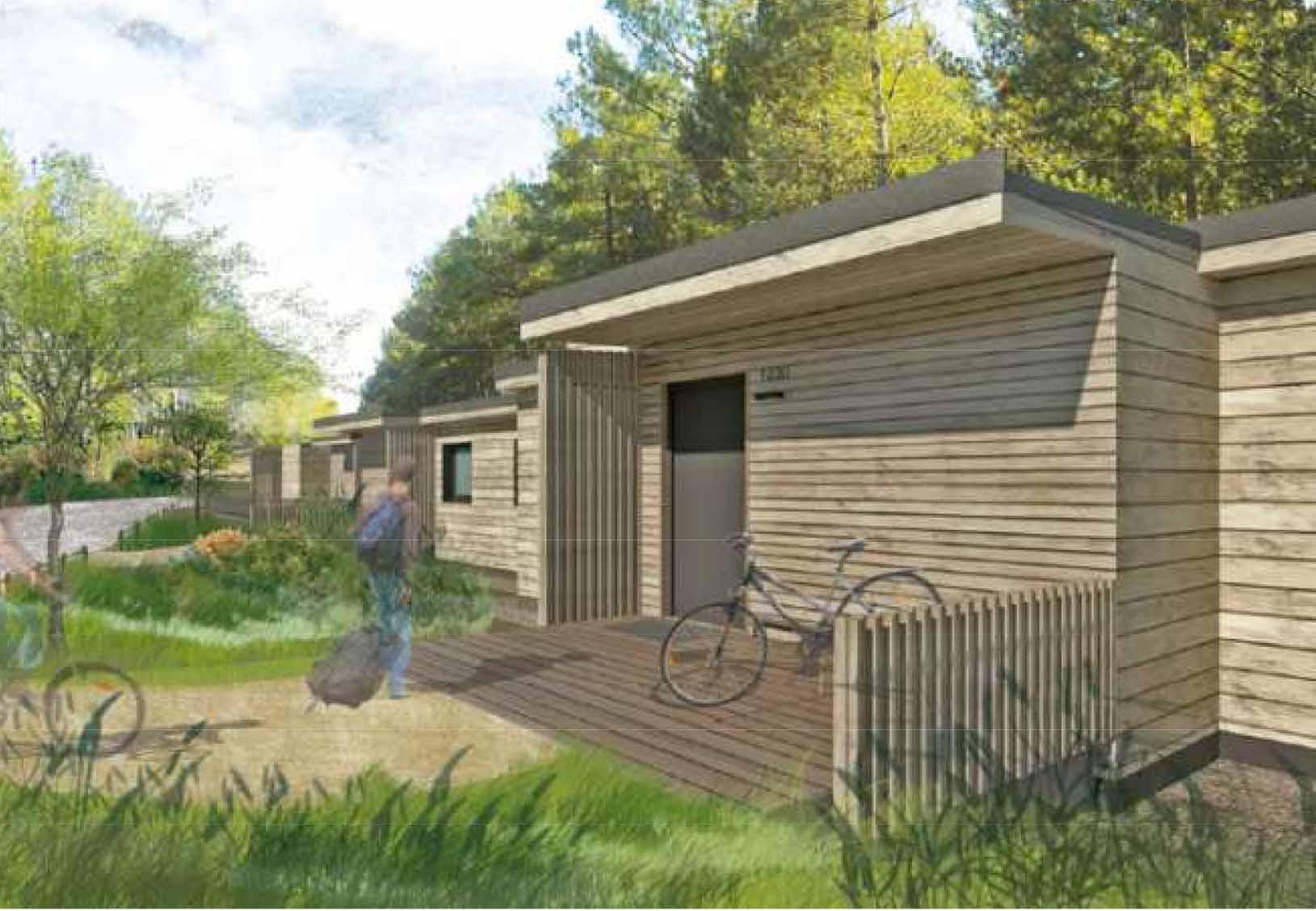 Cottages et salles de bains pour Center Parcs de la Vienne « Domaine du Bois aux Daims »