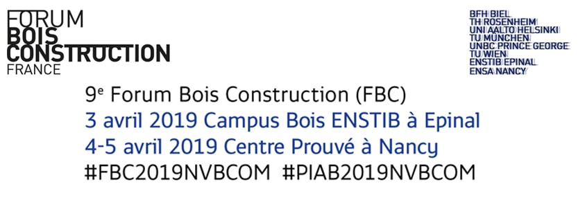 Forum International Bois Construction 2019 à Nancy