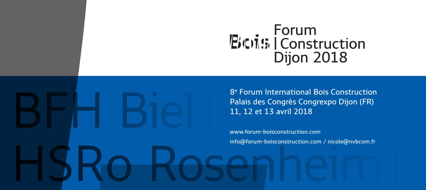 Forum International Bois Construction 2018 à Dijon