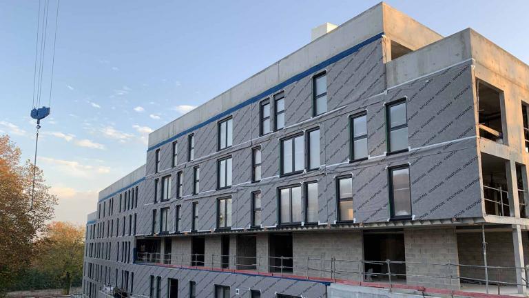 Façades en structure bois pour 2 bâtiments dans la ZAC des Coteaux à Torcy