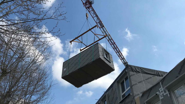 À Sartrouville (78), GCC et Ossabois réalisent deux bâtiments de logements en site occupé