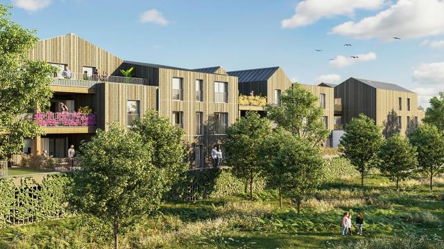 La résidence de logements à ossature bois Wood I Like au sein de l'éco-quartier de l'Île de la Marne à Noisy-le-Grand prend forme